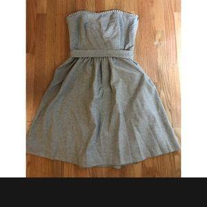 Banana Republic Strapless Gray Dress